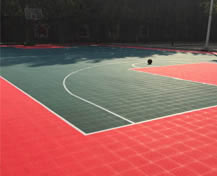 Hebei Military outdoor basketball courts